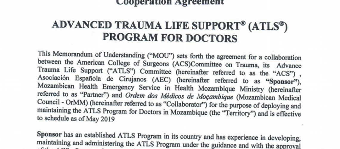 Memorandum of Understanding Cooperation Agreement