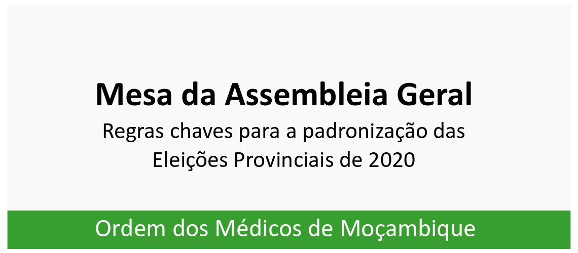 Regras Chaves para a padronizacao das eleicoes provinciais de 2020_1w